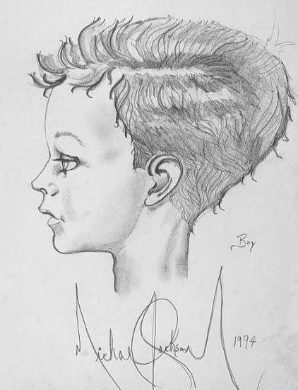 Drawings によって Michael Jackson. Michael Jackson taught himself