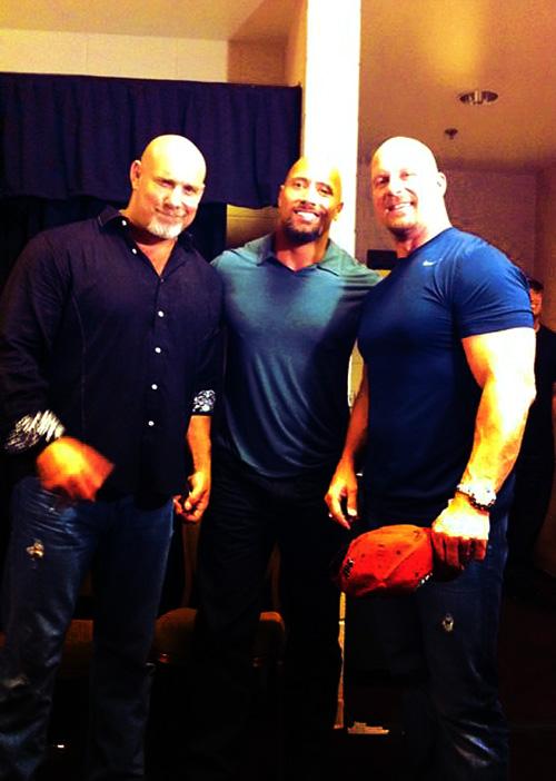 Dwayne Johnson,Bill Goldberg,Steve Austin