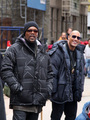 Dwayne Johnson and Samuel L Jackson