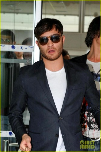 Ed Westwick in France