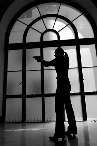 Emily prentiss B&W silhouette,