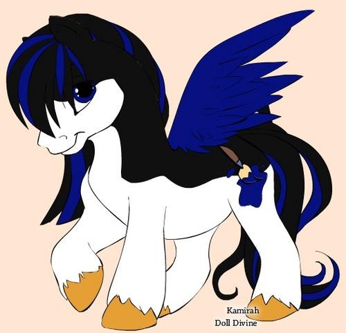 Emma as a pony. :D