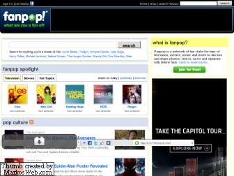 Fanpop's old homepage