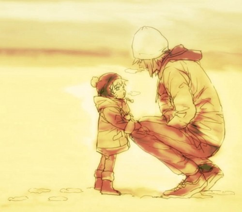 Minato Namikaze wallpaper entitled Father & Son x3