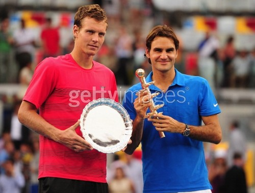 Final Madrid Tomas Berdych and Roger Federer  - roger-federer Photo