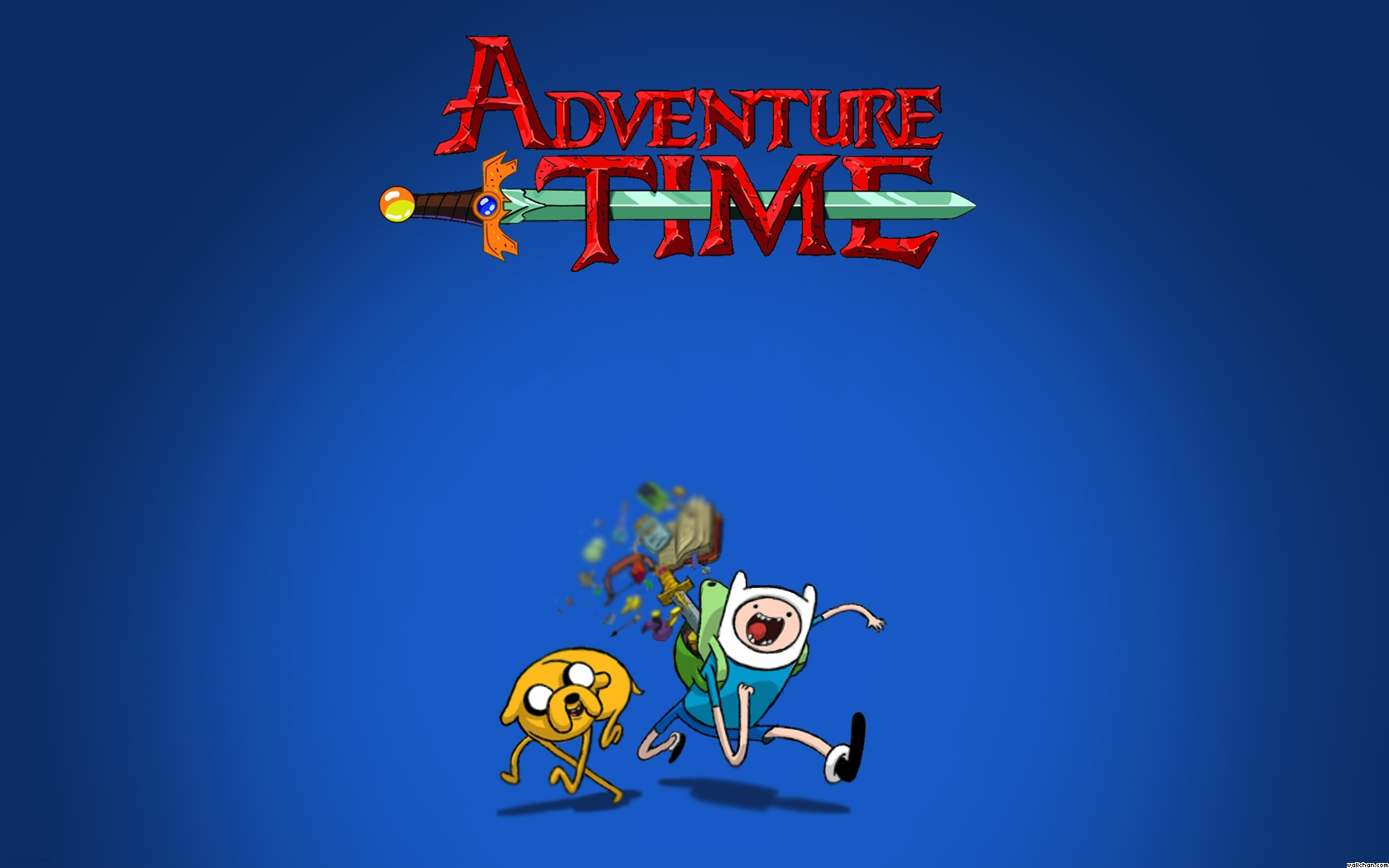 Adventure Time wallpaper possibly containing a sign and Anime called Finn and jake wallpaper