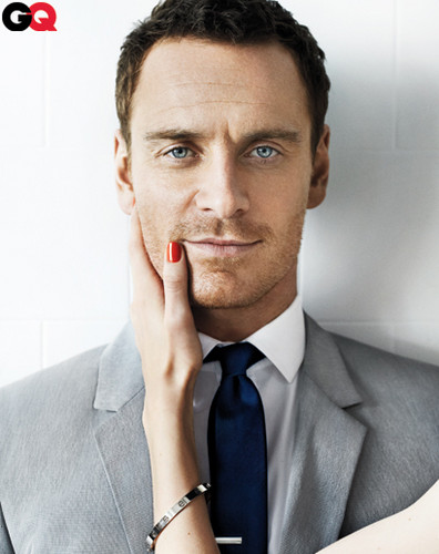 Michael Fassbender wallpaper containing a business suit and a suit titled GQ Outttakes June 2012