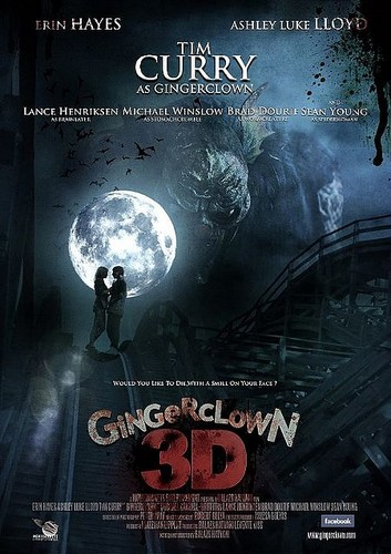 Filem Seram kertas dinding probably with Anime called Ginger Clown 3D