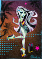 Gloom Beach - monster-high-frankie-stein fan art