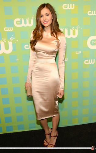 Nina Dobrev wallpaper possibly containing a well dressed person called HQ Pics - The CW Network's 2012 Upfront - Red Carpet - May, 17
