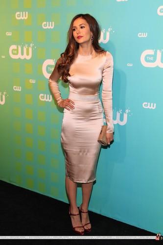 Nina Dobrev wallpaper containing a cocktail dress and a portrait called HQ Pics - The CW Network's 2012 Upfront - Red Carpet - May, 17