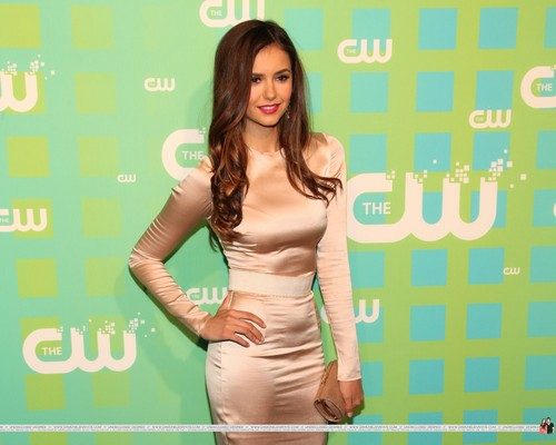Nina Dobrev wallpaper containing a portrait entitled HQ Pics - The CW Network's 2012 Upfront - Red Carpet - May, 17