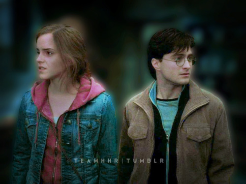 harry dan hermione wallpaper probably with a well dressed person, an outerwear, and a box mantel titled Harmony fan art