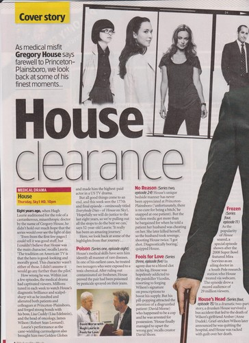 House MD Scans of the TV&Satellite Mag dated 19-25 May 2012