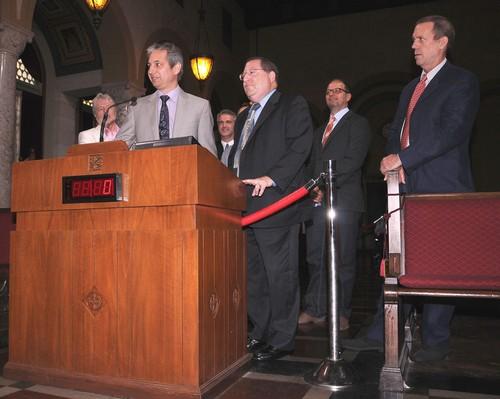 Hugh Laurie at LA City Council promoting local Tv Production 16.05.2012- HQ