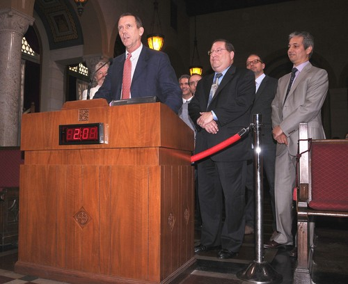 Hugh Laurie at LA City Council promoting local Tv Production 16.05.2012- HQ - hugh-laurie Photo