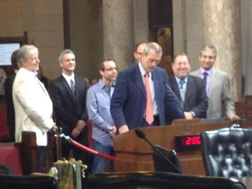 Hugh Laurie at LA City Council promoting local tv production