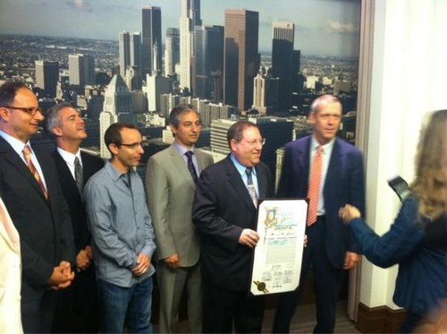 Hugh Laurie at LA City Council promoting local tv production  - hugh-laurie Photo
