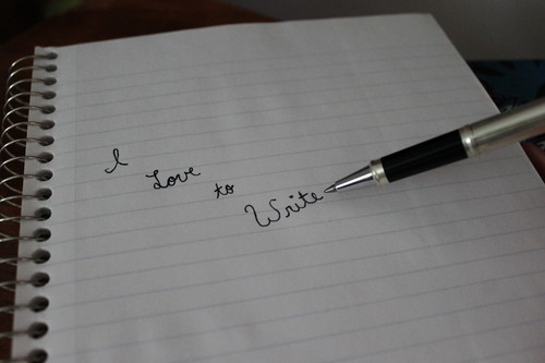Writing wallpaper entitled I Love to Write