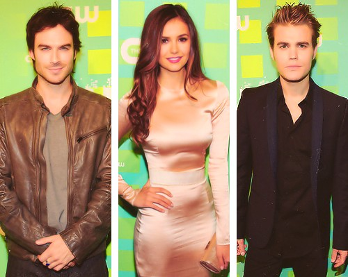 Ian, Nina and Paul The CW Upfronts 2012