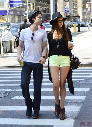 Ian Somerhalder and Nina Dobrev Walk Hand in Hand in NYC - nina-dobrev Photo