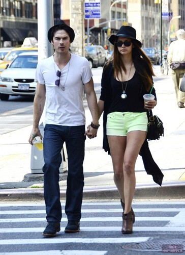 Ian Somerhalder and Nina Dobrev Walk Hand in Hand in NYC