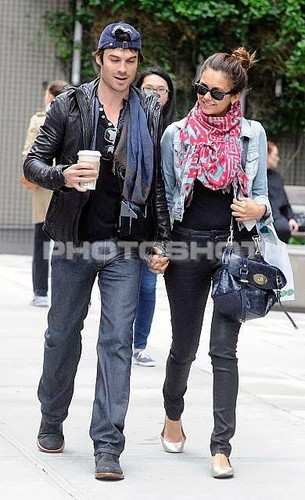 Ian and Nina in NY - ian-somerhalder Photo