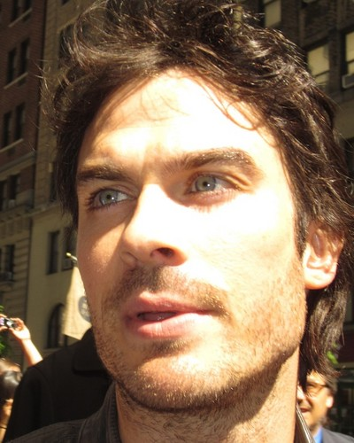 Ian in the CW Upfronts - Signing Autographs