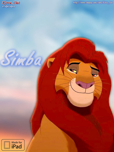 Ipad lock screen background Simba Lion HD