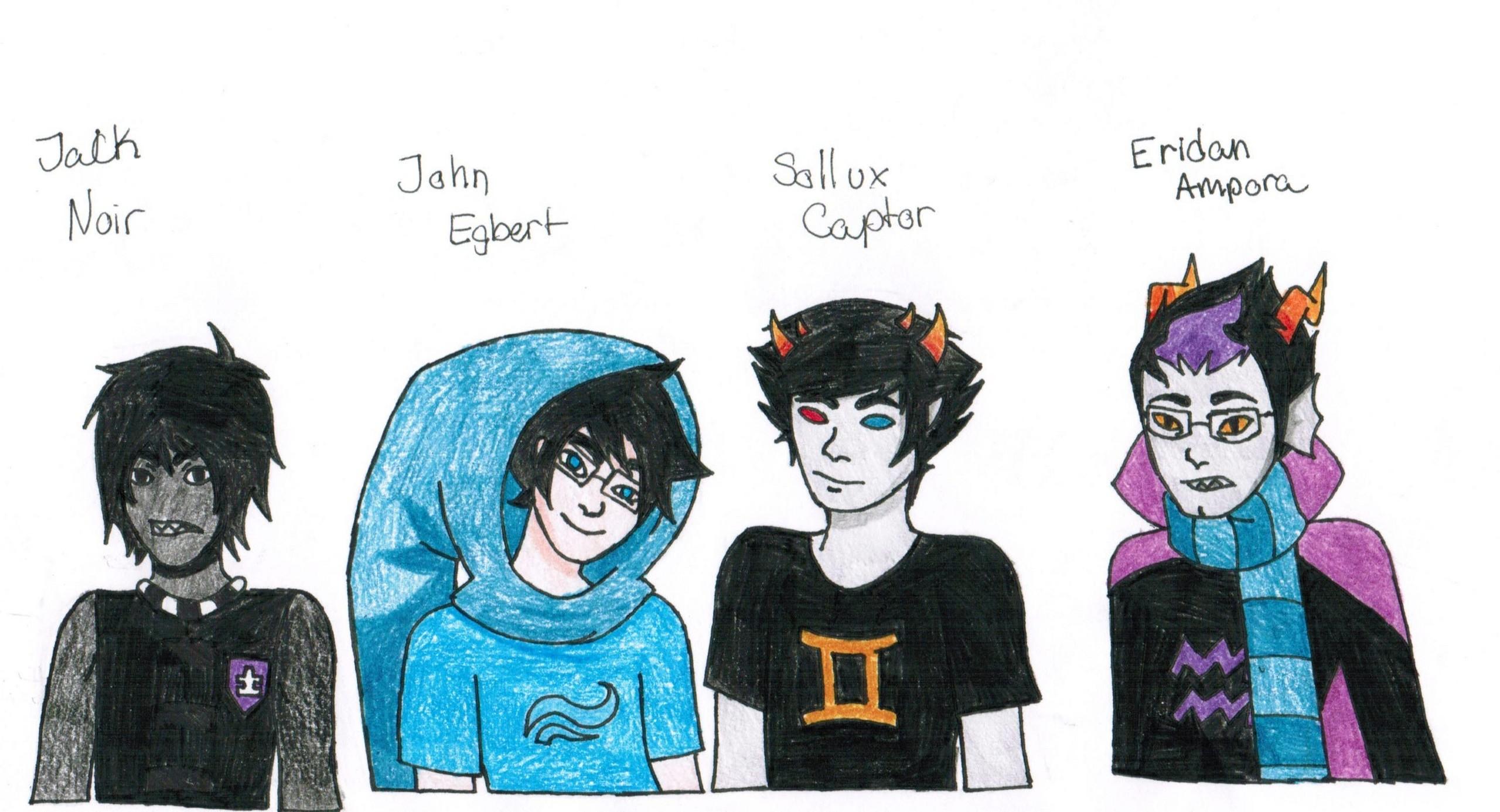 Jack Noir, John Egbert, Sollux Captor, And Eridan Ampora