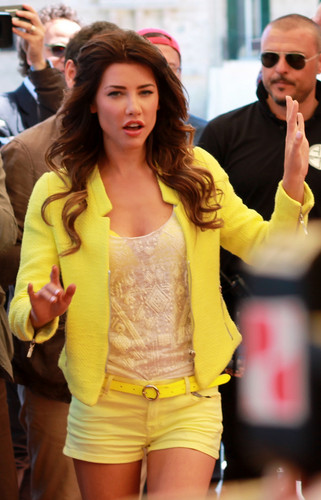 Jacqueline MacInnes Wood during the Bold and the Beautiful Press Conference in Italy.