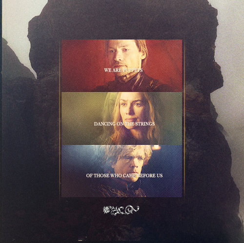 House Lannister wolpeyper probably containing anime called Jaime, Cersei & Tyrion
