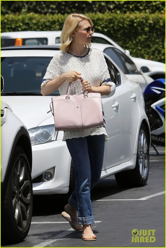 January Jones wallpaper probably with an automobile, a sedan, and a hatchback entitled January Jones: Beverly Hills Beauty