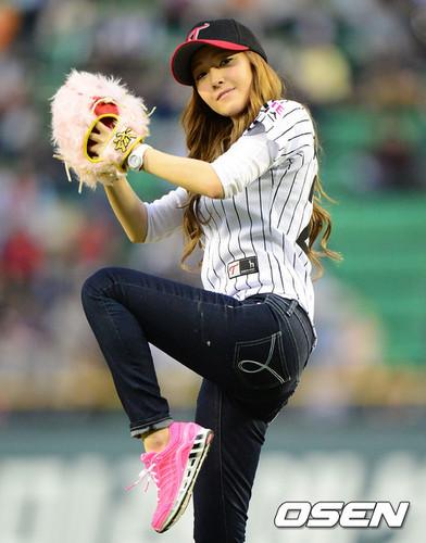 Jessica @ Baseball Game Opening