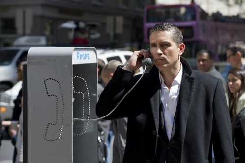 "John Reese wallpaper probably with a business suit and a pay phone entitled John Reese || 1x23 ""Firewall"""