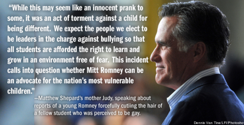 Judy Shepard (Matthew's mother) spoked out