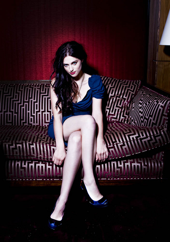 Katie McGrath wallpaper possibly containing bare legs, hosiery, and tights entitled Katie
