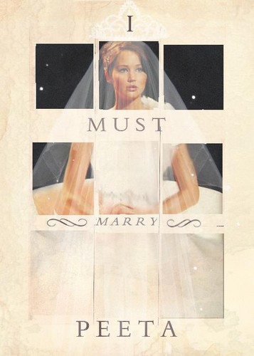 Katniss as a bride