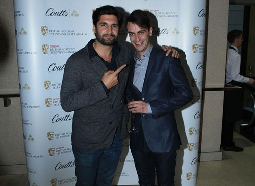 Kayvan Novak and Joseph Gilgun at the Television Nominee's Party 2012 <333