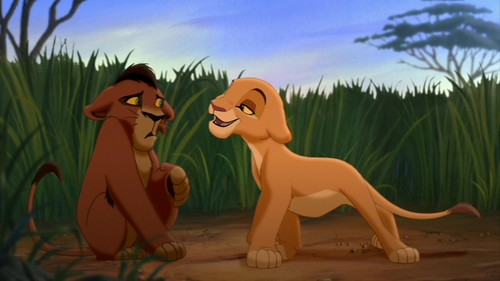 Kiara and Kovu as cubs
