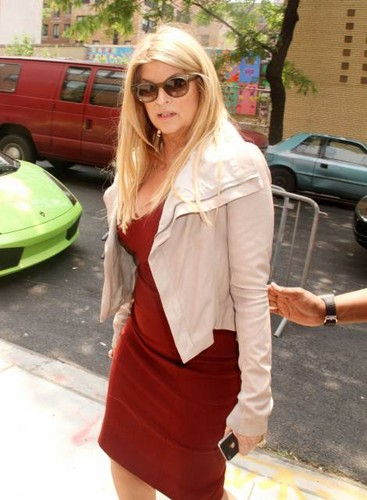 Kirstie Alley wallpaper probably with a street, an outerwear, and a box coat titled Kirstie Alley at 'The Wendy Williams Show' 2011