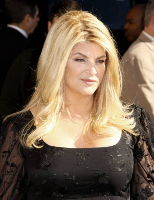 "Kirstie Alley makes an appearance on ""Late دکھائیں with David Letterman"""