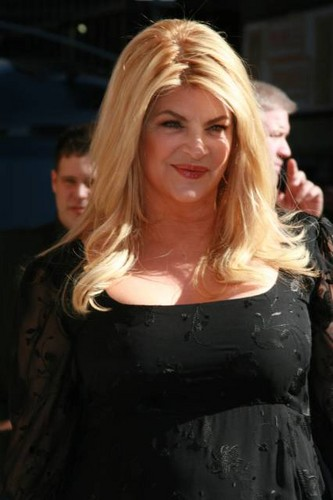 "Kirstie Alley makes an appearance on ""Late Show with David Letterman"""