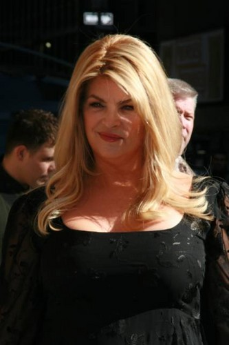 "Kirstie Alley makes an appearance on ""Late mostra with David Letterman"""