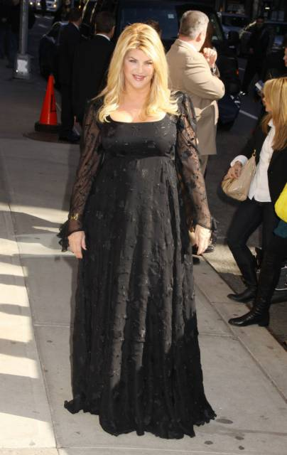 """Kirstie Alley makes an appearance on """"Late toon with David Letterman"""""""