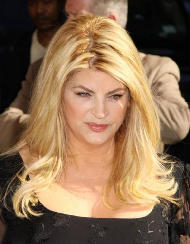 "Kirstie Alley makes an appearance on ""Late toon with David Letterman"""