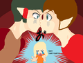 Kisshu and Taruto KISS!? - tokyo-mew-mew fan art