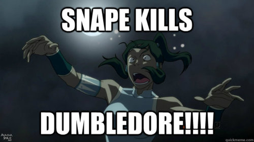 Korra reads Harry Potter