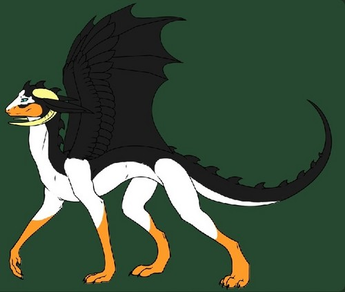 Kowalski as a dragon!!! :3