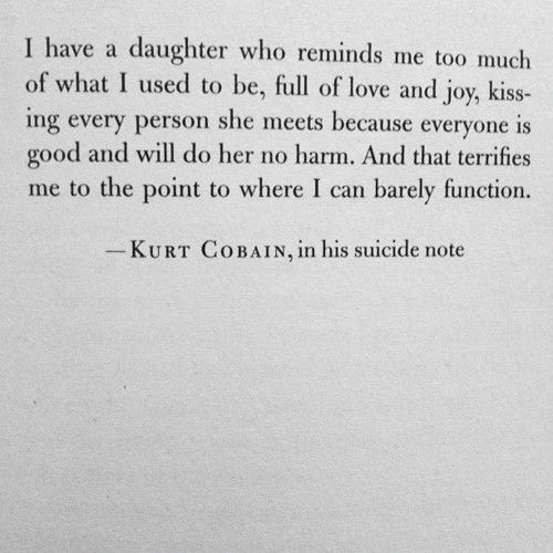 Kurt's suicide note?